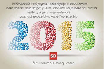 Voščilo ŽENSKI FORUM SD SG