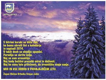 Voščilo župana Stojana Jakina ob prihajajočih praznikih
