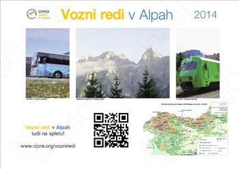 Izšli so vozni redi v Alpah 2014