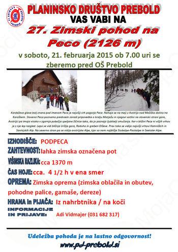 27.Zimski pohod na Peco