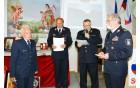 Podelitev priznanja Gasilske zveze Slovenije II. stopnje častnemu predsedniku in najstarejšemu članu PGD Socka Hermanu Kotniku
