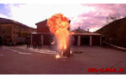 Prikaz maščobne eksplozije. Foto: Danijel Markič