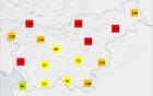 Model ARSO za prikaz požarne ogroženosti. Vir: meteo.si