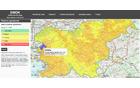 Drugi model URSZR za prikaz požarne ogroženosti. Vir: smok.sos112.si