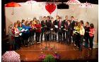 Vokalni skupini sta predstavili svoj izbor pesmi na temo ljubezni.