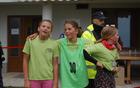 Maja, Kaja in Maja so vedele, da so dobro opravile s progo [foto: Mateja Zdešar].
