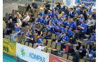 Zvesti navijači naših odbojkarjev, ki so bili prisotni kar na obeh tekmah finala pokala. Foto: Borut Jurca