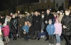 Tradicionalni prižig lučk v Šempetru so spreljali gostje iz občine Romans d'Isdonzo. (Foto: Foto atelje Pavšič Zavadlav)