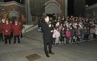 Tako v Vrtojbi kot v Šempetru je zbrane pozdravil župan Milan Turk in vsem zaželel lep praznični december. (Foto: Foto atelje Pavšič Zavadlav)