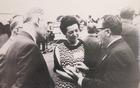 34. mednarodni kongres PEN leta 1966 v New Yorku – med udeleženci so bili Mira Mihelič, Matej Bor, Bogdan Pogačnik
