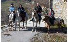 Pohdnikom so se pridružili konjeniki - foto Martin Škoberne