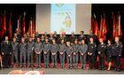 Predstavniki društev, gasilske zveze in ekipa pionirjev, ki je nastopila na olimpijadi.