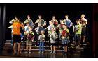 Poletje v Kobaridu z mladimi harmonikarji Glasbene šole Palbin. Foto: Nataša Hvala Ivančič