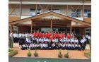Judoisti JK Acron SG na sprejemu na srednji šoli v mestu Aya na Japonskem