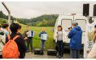 Pohodnike je pozdravila predsednica TD Tržišče Milena Knez; zaigrala sta mlada harmonikarja Žan Knez in Valentin Knez (foto:TD Tržišče)