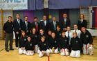 Tekmovalci TKD kluba Škorpijon z visokimi uradniki ITF federacije