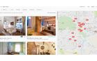 Portal airbnb.com kot najpopularnejši ima zadetke iskanja označene tudi na zemljevidu.