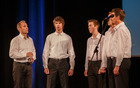 Učenci solo petja Glasbene šole Tolmin pod mentorstvom prof. Damijana Brečana.
