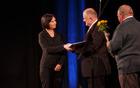 Denarno nagrado je za Vokalno skupino Drežnica prevzela Martina Rakušček.