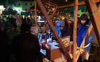 Miklavževa tržnica v Kobaridu. Foto: Nataša Hvala Ivančič