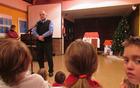 Obiskovalce je pozdravil in nagovoril kobariški župan Robert Kavčič.
