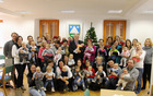 Novoletni sprejem novorojenčkov občine Kobarid pri županu Robertu Kavčiču. Foto: Nataša Hvala Ivančič