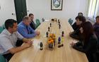 Poslanska skupina Združena levica je v ponedeljek, 27. marca obiskala Kobarid. Foto: Nataša Hvala Ivančič