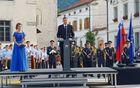 Predsednik Republike Slovenije Borut Pahor je v slavnostnem nagovoru poudaril, da je vojna strašen pekel, moralno dno naše civilizacije in zdrs dobrega in vrednega in je skoraj nič ne opravičuje. Foto: Nataša Hvala Ivančič