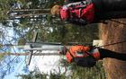 Križ na vrhu Brinjeve gore, delo dr. Lojzeta Pogorevca