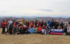 Skupinska fotografija ob spustu s Črnega vrha