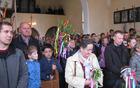 Blagoslovitev snopov v cerkvi sv. Ahaca