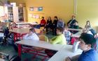 Petošolci so predstavili svoje ugotovitve o prometu na šolskih poteh (foto: Vesna Kotnik)