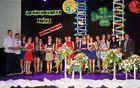 Nagrajenci ob podelitvi ob prisotnosti župana Branka Petreta in Vesne Poteko