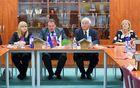 Direktorica občinske uprave Mojca Skale, župan Branko Petre, podžupan Viktor Štokojnik in ravnateljica Olga Kovač