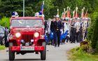 Gasilska parada – v njej so sodelovali tudi člani Folklorne skupine Vinko Korže Cirkovce in Pihalni orkester Talum Kidričevo.