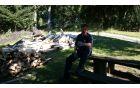 Ivan in klaftra metrskih drv v nastajanju
