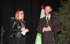 Glavna organizatorja Božičnega Vojnika, Nataša Kovačič Stožir in Benedikt Podergajs