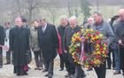 Polaganje venca pri spomeniku 40 frankolovskih žrtev