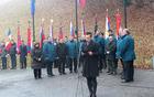 Nadja Korošec med povezovanjem komemoracije