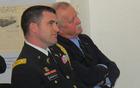 Vojaški ataše ZDA Krist G. Thodoropoulos in brigadir Janez Kavar (foto Media butik)