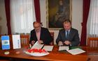 Župan občine Kanal ob Soči Andrej Maffi in predsednik uprave ESOTECH, d. d., gospod Marko Škoberne