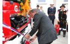 Trak sta prerezala župan Franc Setnikar in boter vozila Damjan Plevnik.