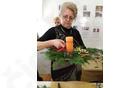 Ivanka Vodovnik, delavnica adventnih venčkov
