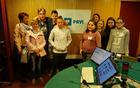 V radijskem studiu RTV Slovenija.