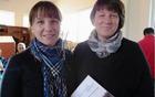 Avtorici knjige in razstave o mlinih na Jeseniščici Mojca Ramovš in Liljana Jantol Weber. Foto Joži Sinur, Dolenjski list.