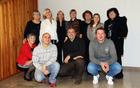 Članice društva POC skupaj s potapljači Društva KPD Ina iz Kostrene - Roman Žonta