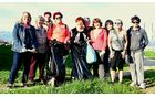 Udeleženci čistilne akcije, manjka le fotograf Lojze Burja