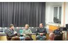 Alenka Zdešar je vodila pogovor s komandirjem Policijske postaje Domžale, Dejanom  Koširjem, policistko Agato Lucijo Jevnikar in direktorjem Detektivske pravne agencije, Damjanom Matičičem,foto Brane Tomšič