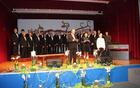 Himna za uvod – MoPZ A. Bezenšek z učenko Lauro Pesjak in s povezovalcema prireditve Benom Podergajsom in Marjano Šoš
