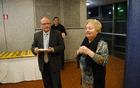 Zahvala županu Jožetu Muhiču s strani Miše Kulovec, v imenu vseh občanov, kot je dejala.